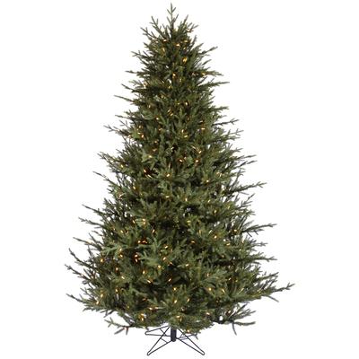 6.5 ft Faux Christmas Tree   Prelite Warm White LED Tree