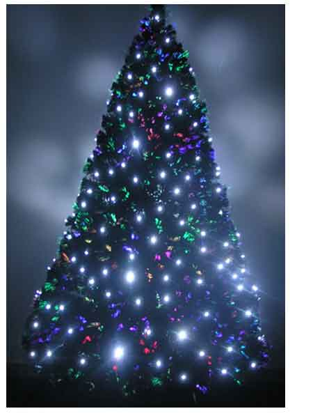7ft Fiber Optic Christmas Tree Pre Lit - 36 Fiber Optic Christmas Tree